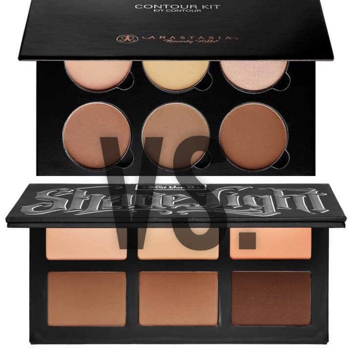 Anastasia Beverly Hills Contour Kit vs. Kat Von D Shade Light