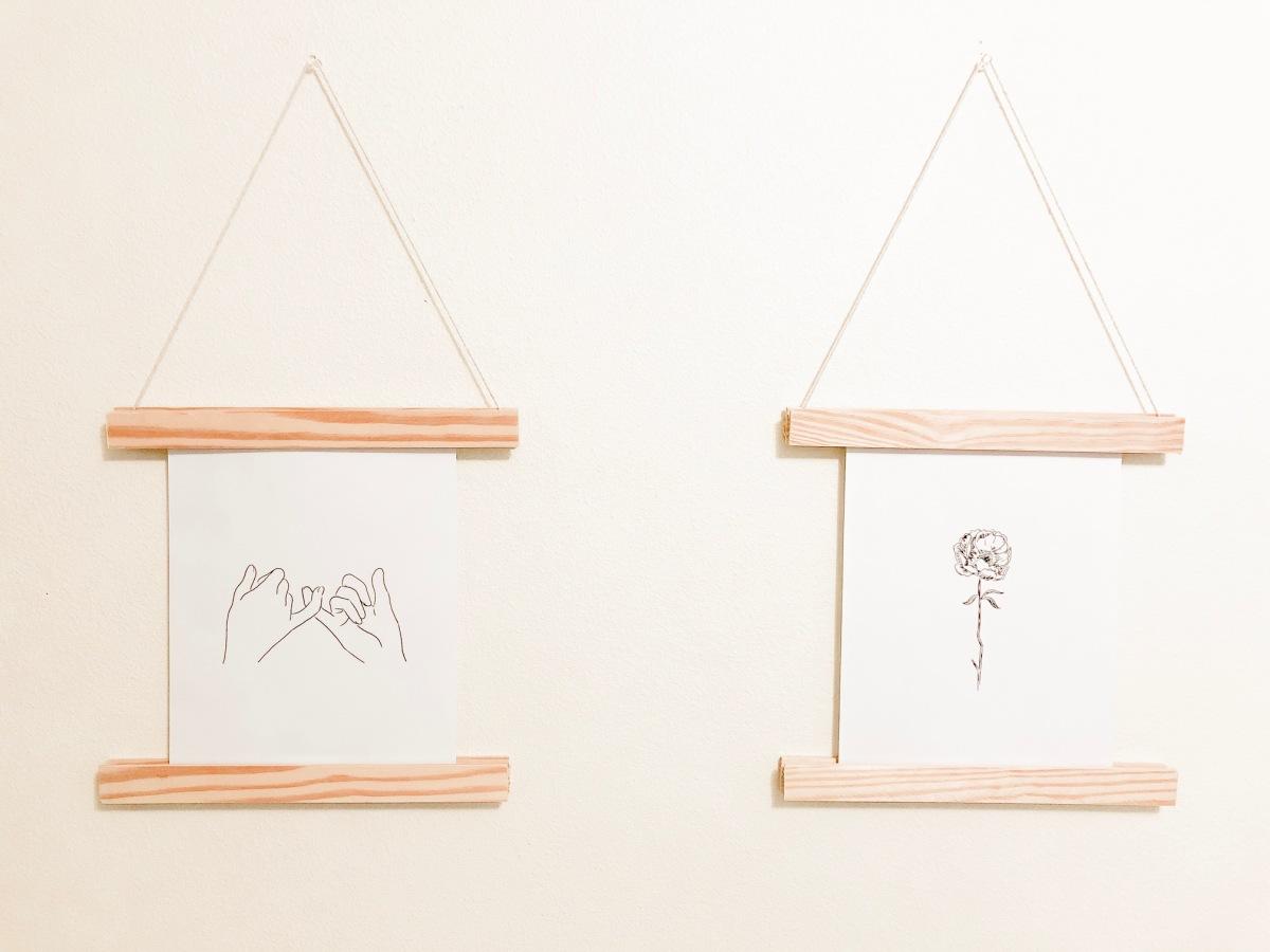 DIY Wooden Print Hanger