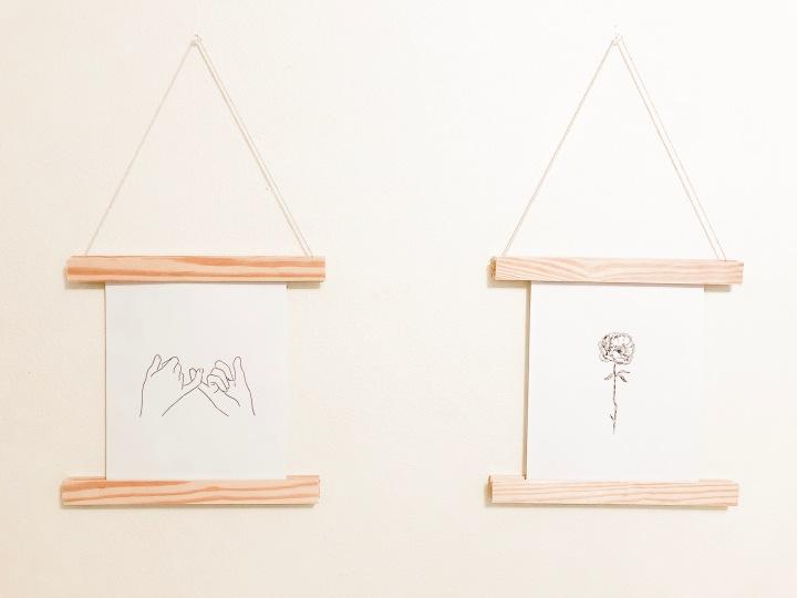 DIY Wooden PrintHanger